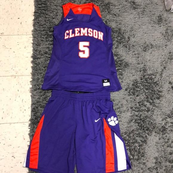 purchase cheap 50d61 34467 Nike Dri-Fit Clemson basketball Uniform